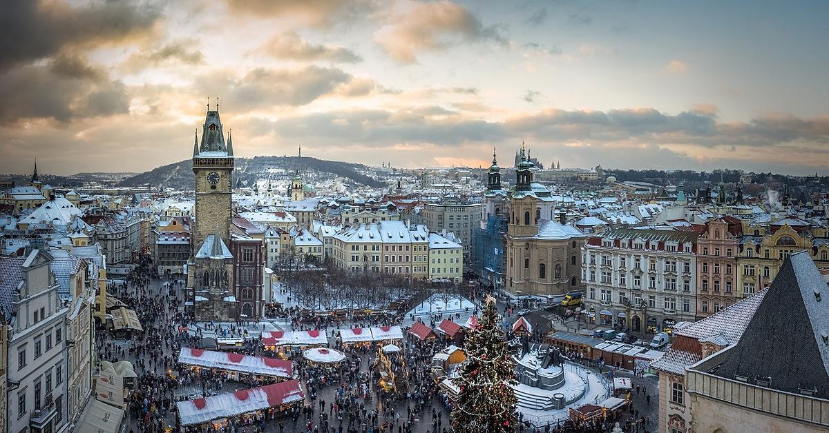 Voyage à pied : Les marchés de Noël à Prague