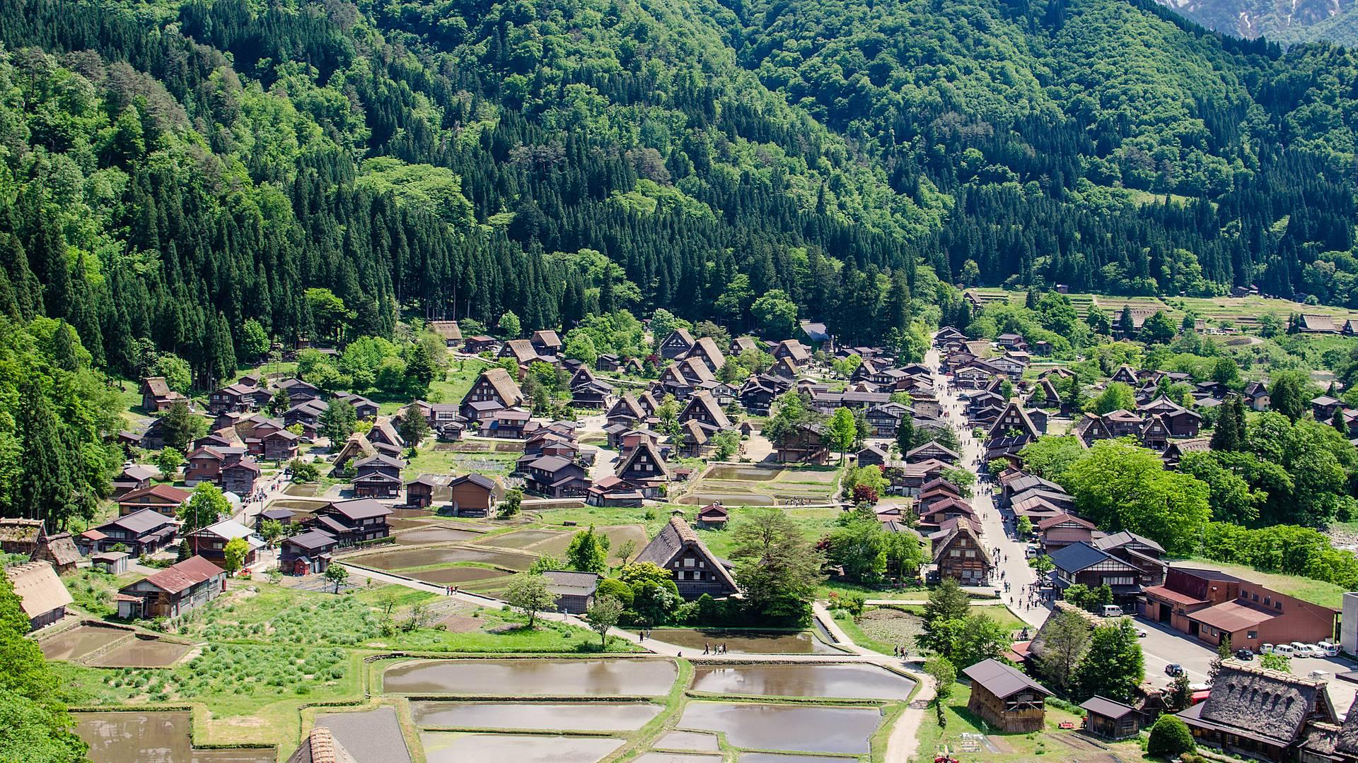 De temple en villages