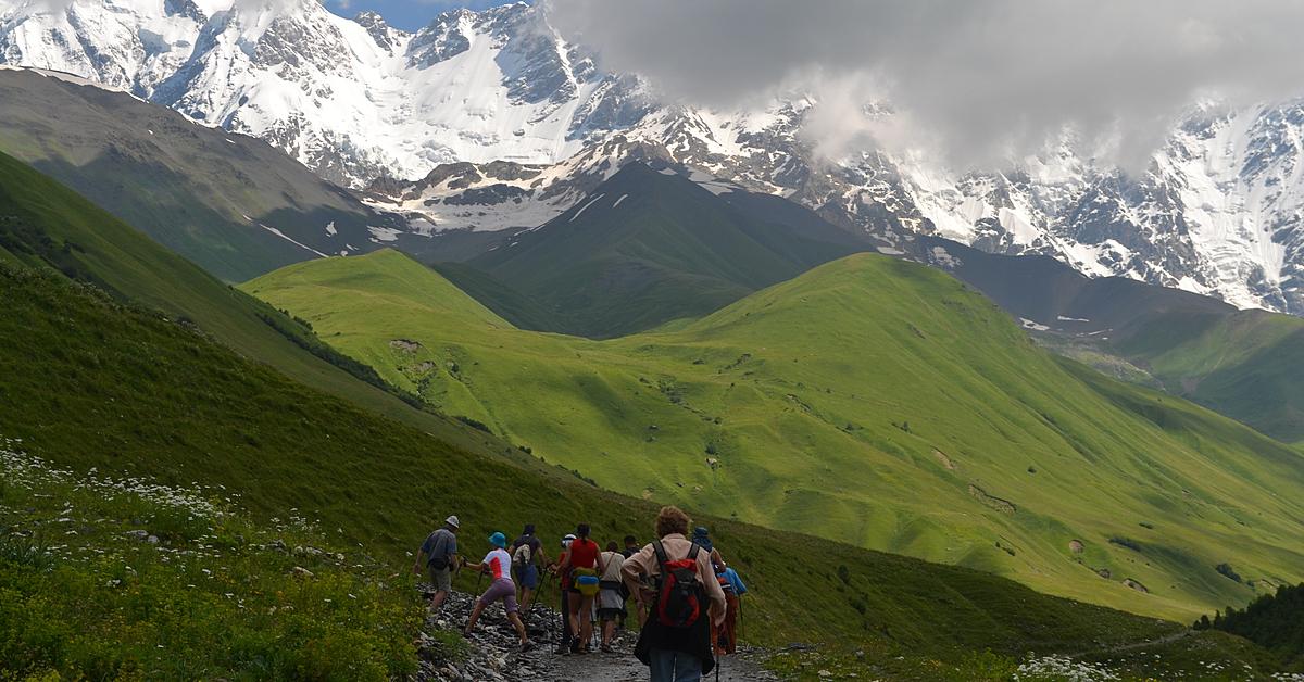 Voyage à pied : Randonnées caucasiennes en groupe