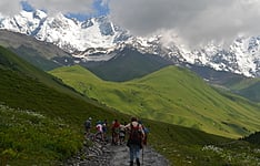 Randonnées caucasiennes en groupe