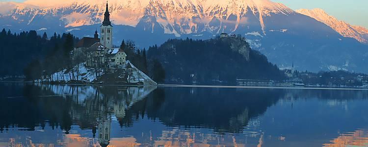 La mágica Isla de Bled en coche