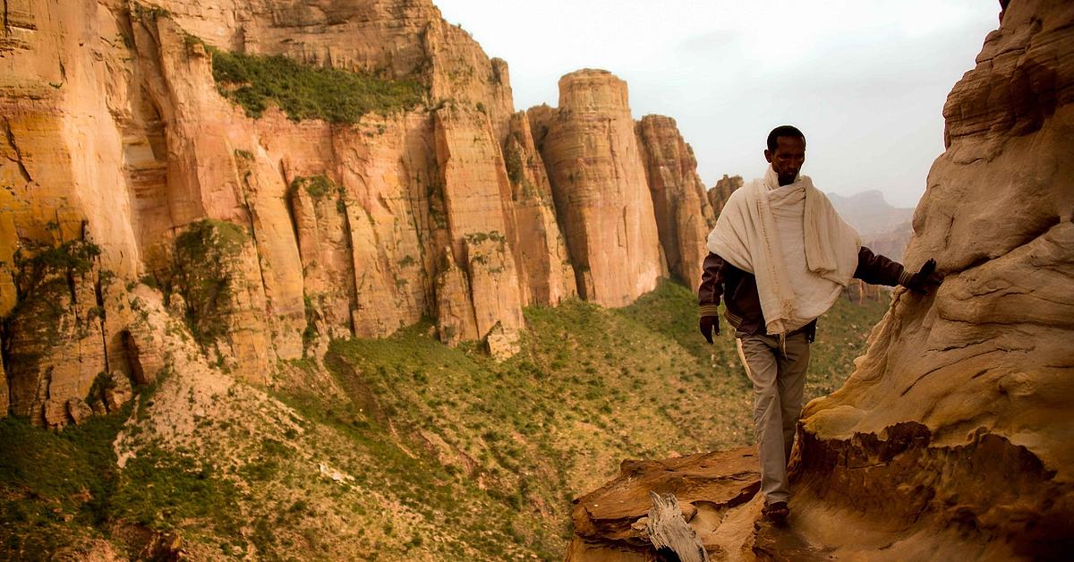 Voyage à pied : Marches et églises éthiopiennes