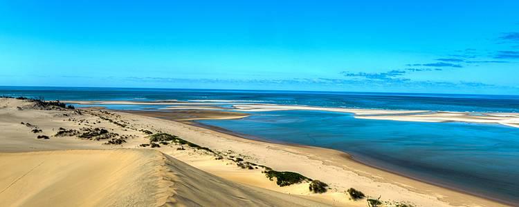 Sonne, Strand und Meer in Mosambik