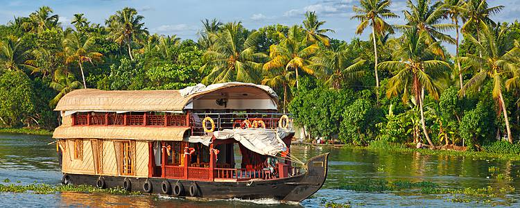 Backwaters en Kerala en Familia