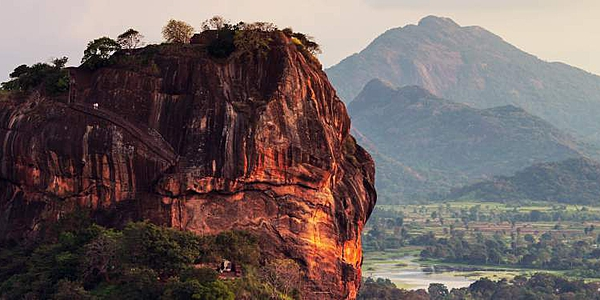 Shape of the unique Lion Rock in Sigiriya, Sri Lanka, which