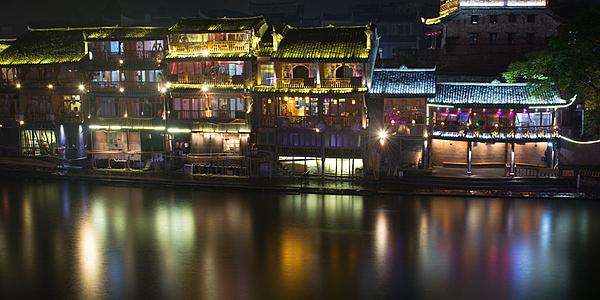 Fenghuang maisons au bord de l'eau - Chine