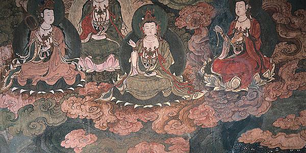 Pinturas murales de las Grutas de Mogao @flickr cc Xuan Che