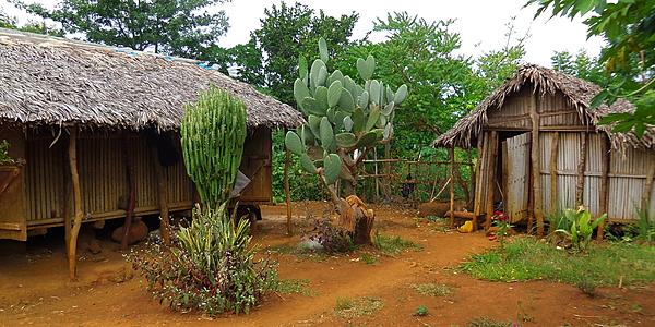 Une maison dans le village d'Ambilo