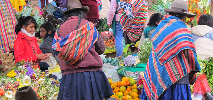 Shopping marché Pérou