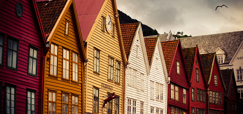 Coloured houses Norway