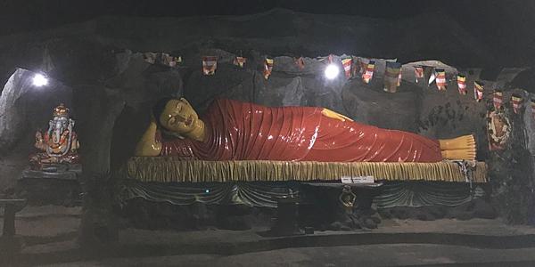 Buddha sur la route du pic d'Adam