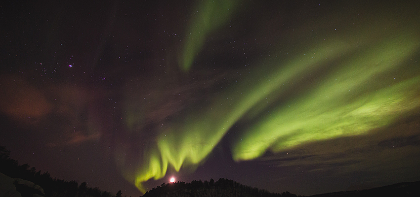 Admirar las auroras boreales... ...es gratis.