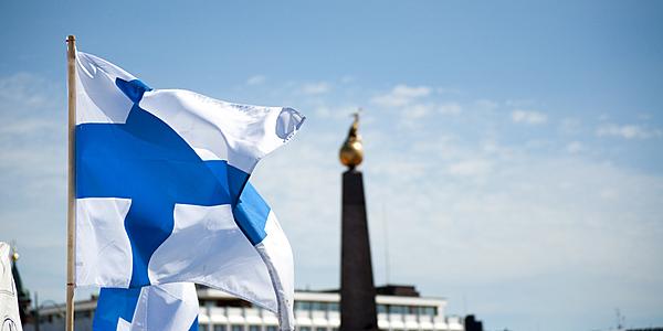 Le drapeau finlandais