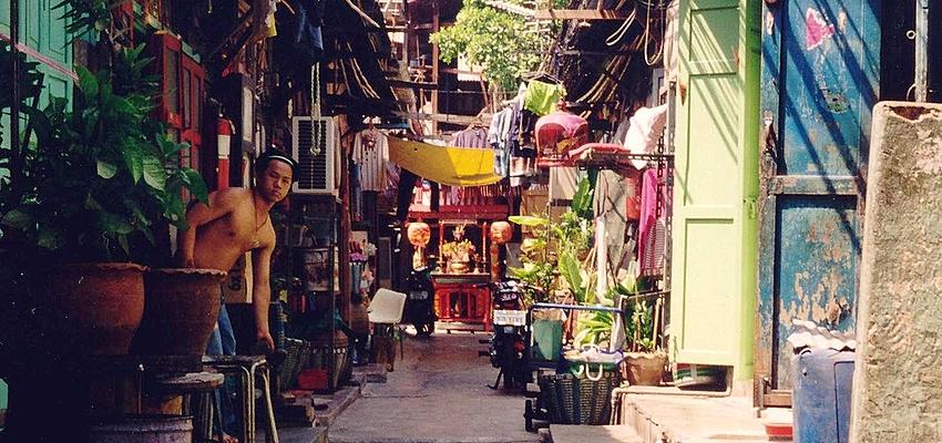 Callejón de Bangkok, en Tailandia
