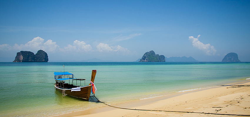 An idyllic beach in Thailand