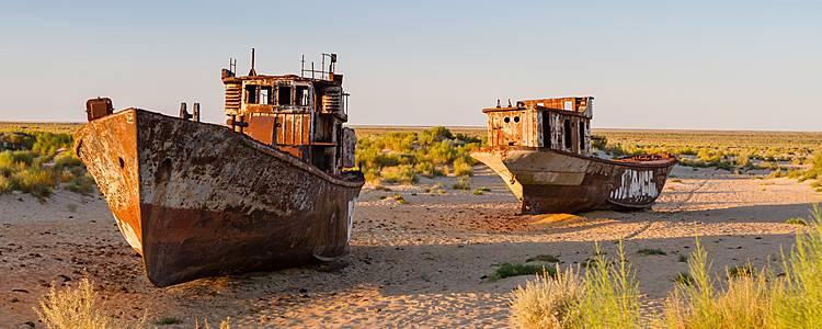 Nel deserto del lago d'Aral