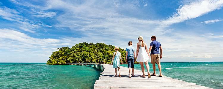 Familienzeit zwischen Kultur und Meer