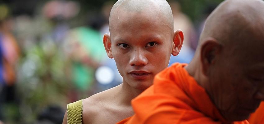 Monje budista de Laos