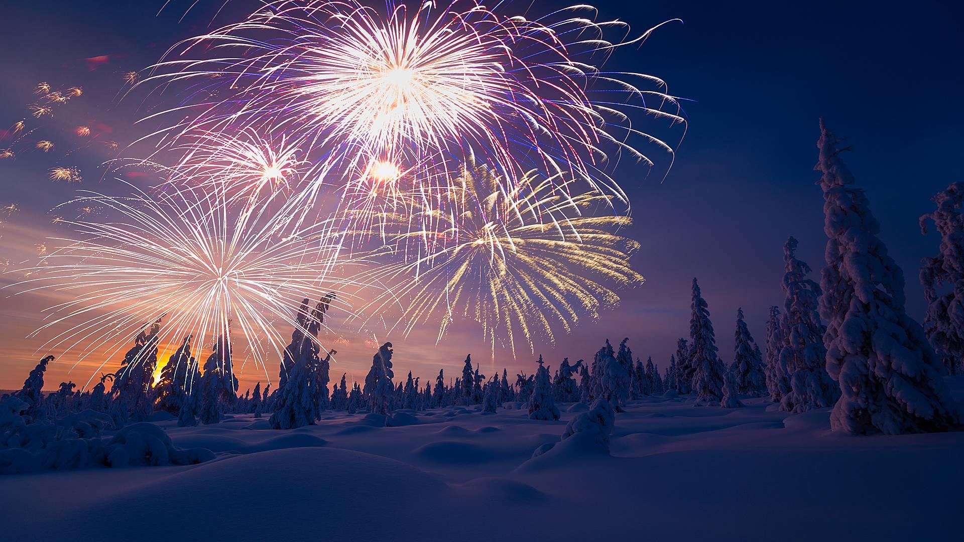 Neujahr unter den Nordlichtern