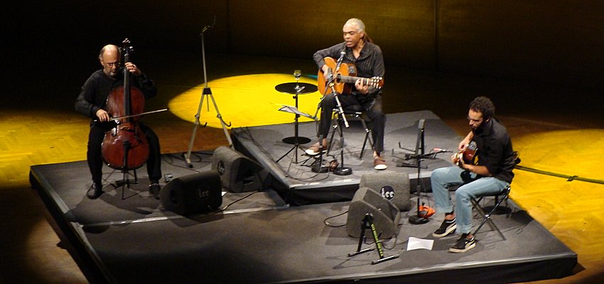 Gilberto Gil in concert at Brussels