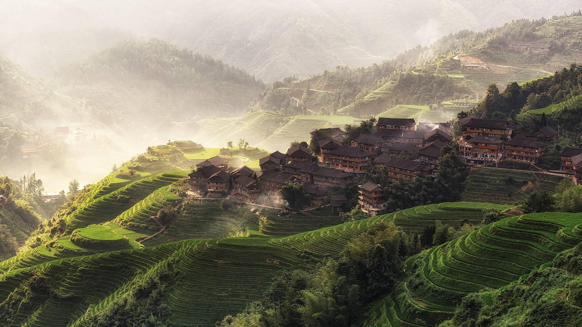 China esencial y arrozales del Sur