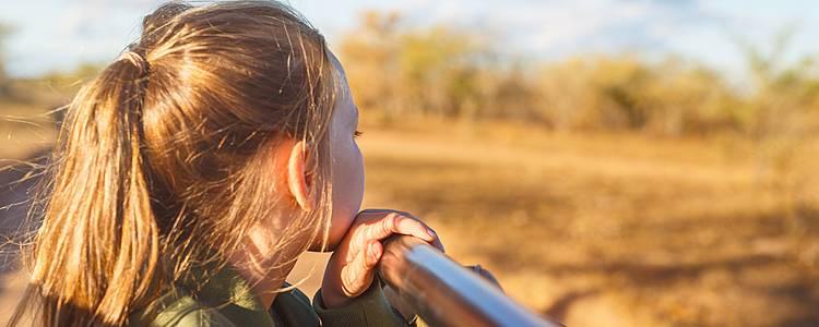 La fauna sudafricana en confort con los pequeños