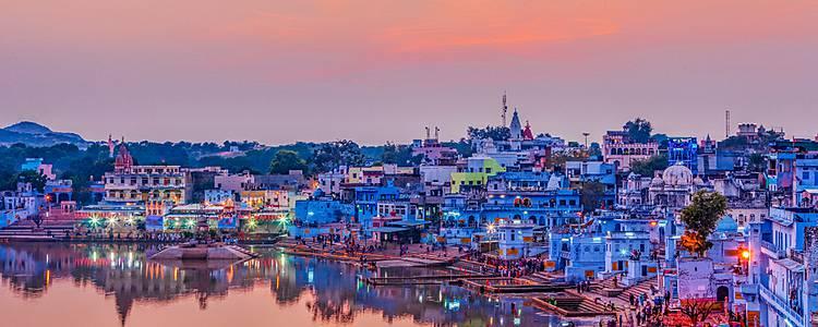 Farben und Paläste rund ums Pushkar Fest