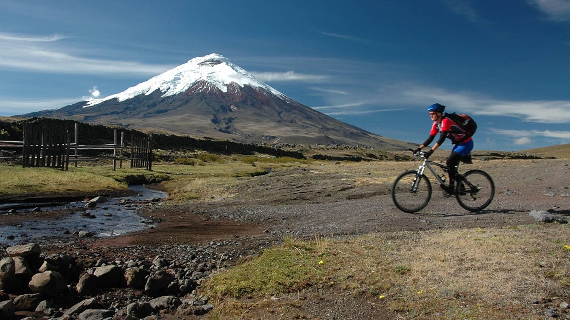 VTT dans les Andes