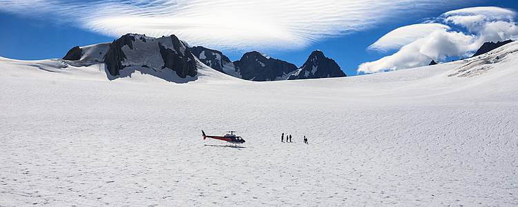 Dolphins, helicopters and glaciers!