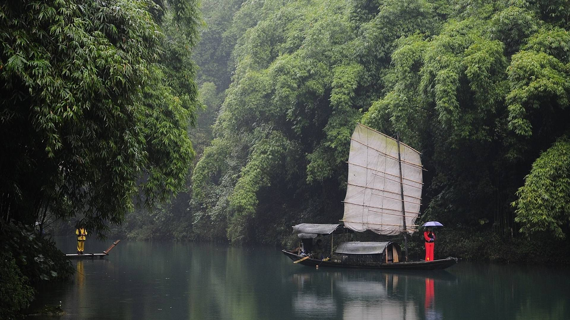 La Chine magnifique et fleuve Yangtsé