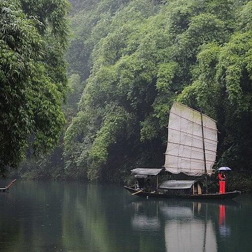 La Chine magnifique et fleuve Yangtsé -