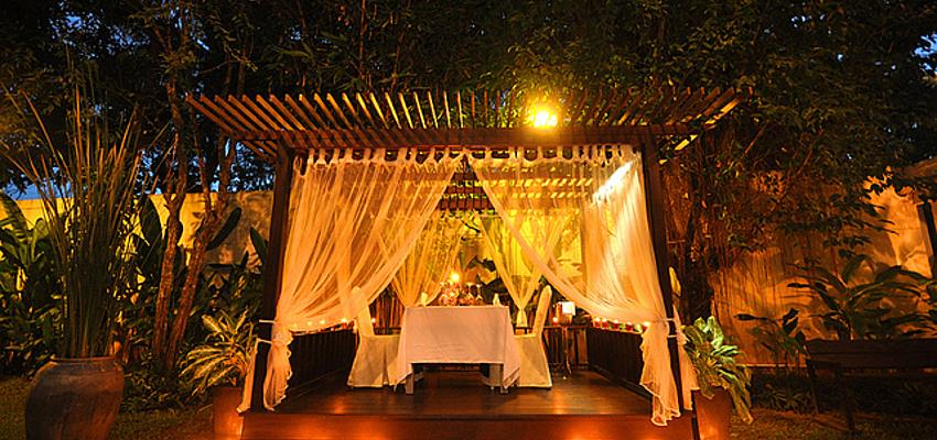 Cena privada en Tara Angkor