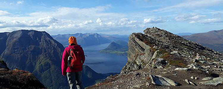 Hiking on top of the fjords
