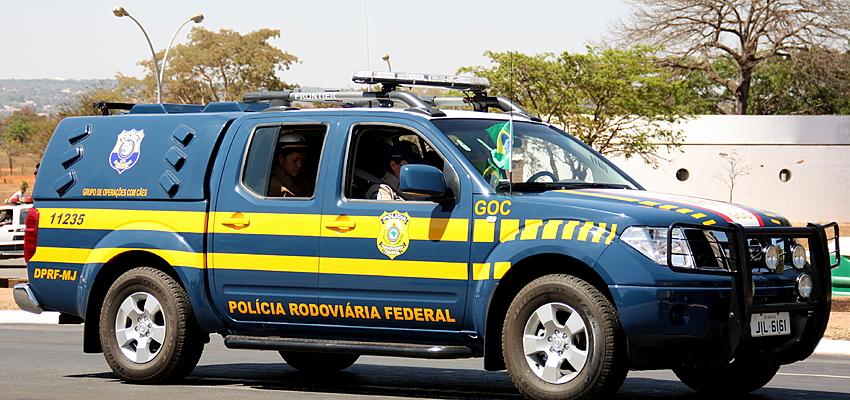 Voiture de la police fédérale de la route