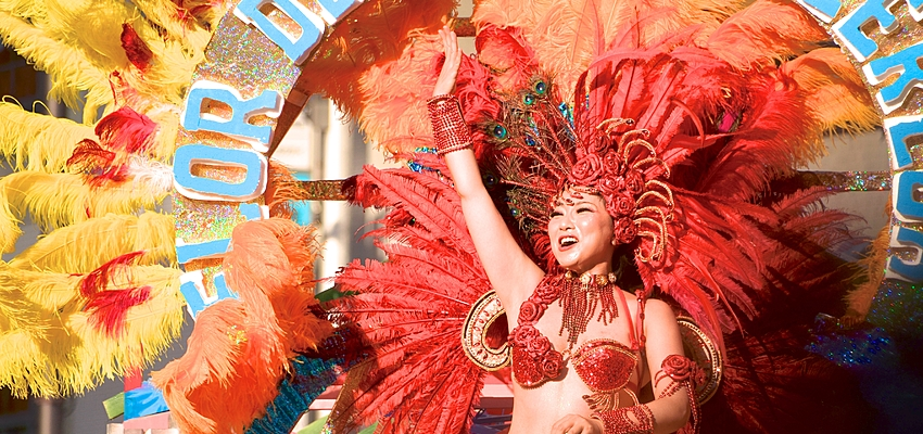 Bailarina de samba en el carnaval de Río
