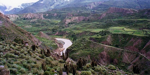 A panorama of the Colca Valley