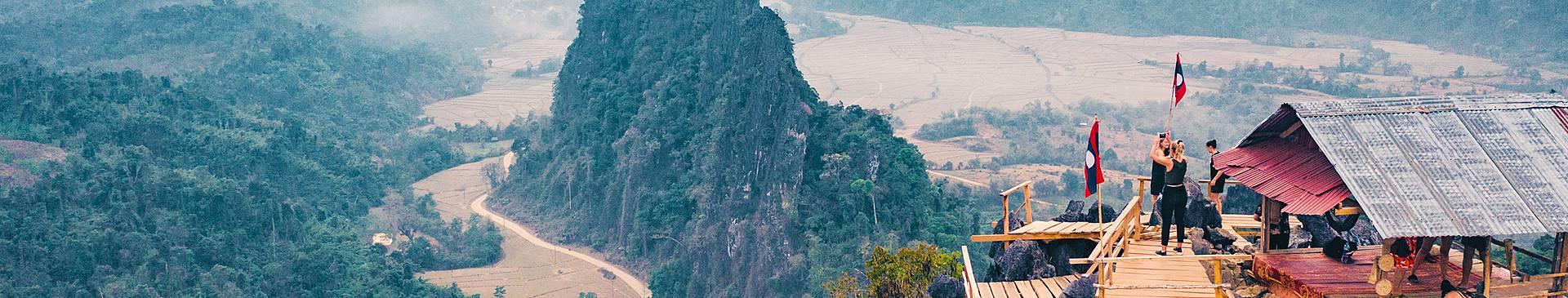 Hiking in Laos