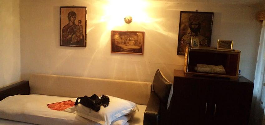 Chambre dans un monastère dans le Nord de la Roumanie
