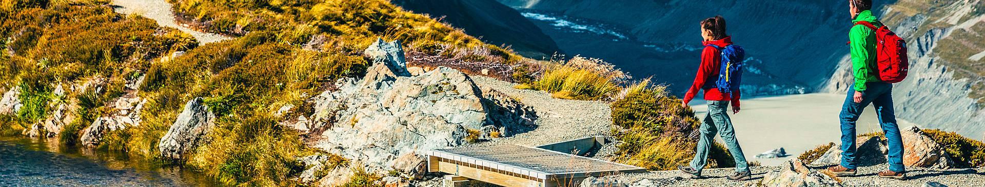 Randonnée en Nouvelle Zélande