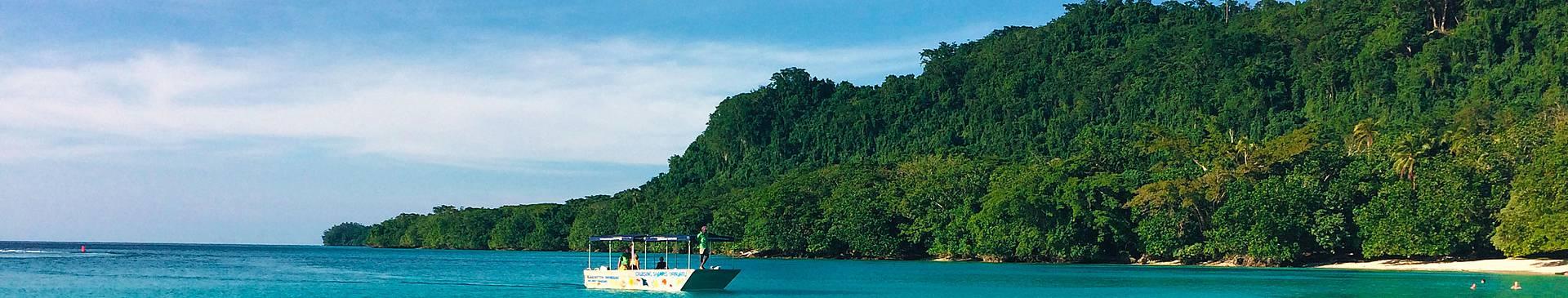 Vanuatu avec un guide