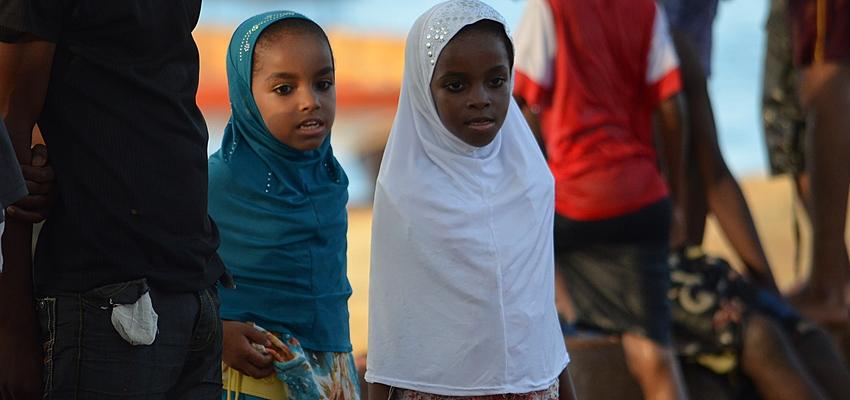Pequeños musulmanes en Tanzania