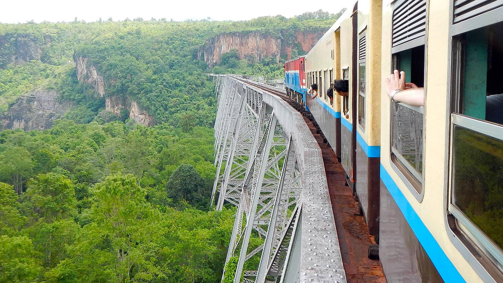 Sur les rails, de la Thaïlande à la Birmanie