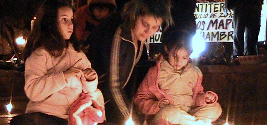 Wache zur Unterstützung der Mapuche