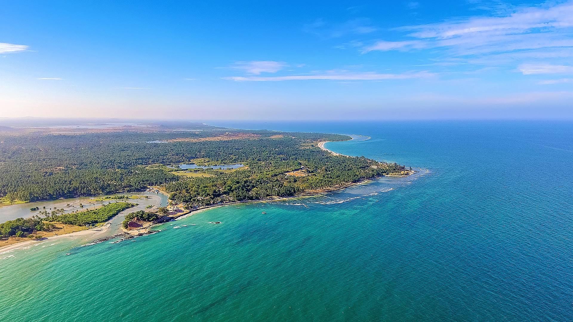 Lugares icónicos y las playas de la costa