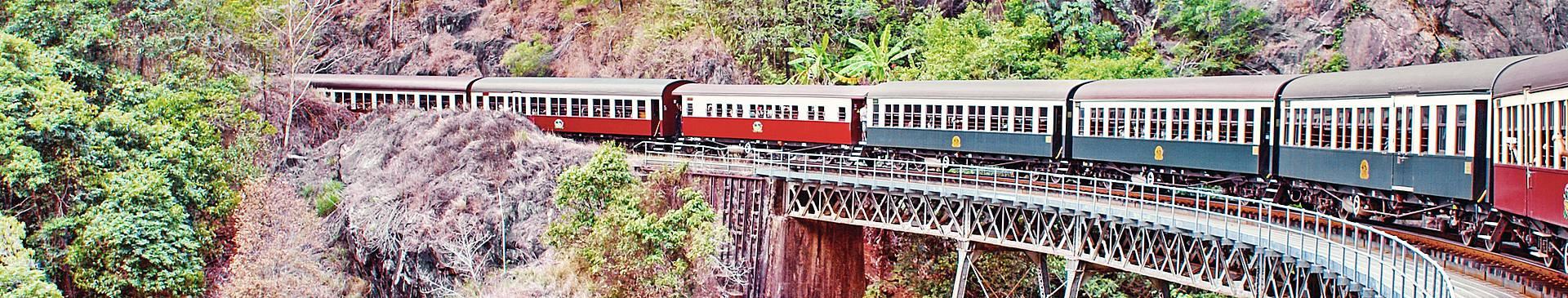 Train travel Australia