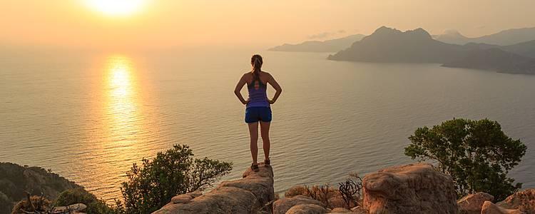 Zwischen Meer und Berge auf der Insel der Schönheit