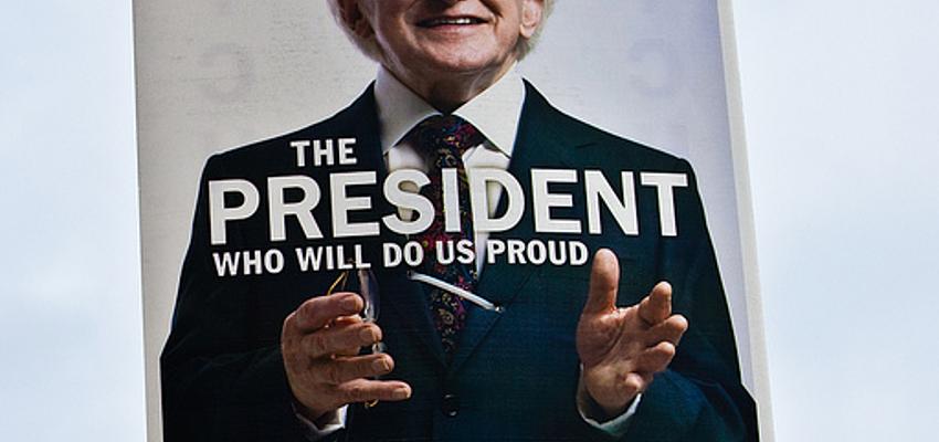 Affiche de campagne du président Michael D. Higgins