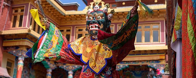 Die Maskentänze am Klosterfest in Paro