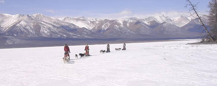 Khuvsgul, traversée en traîneau à chiens