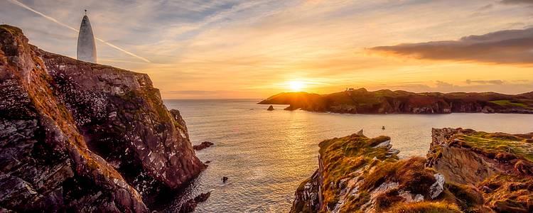 Die irische Insel in der Gruppe erkunden